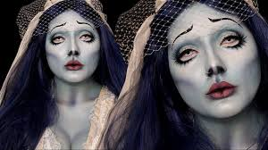 corpse bride emily costume makeup tutorial