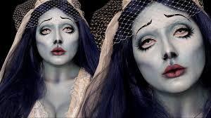 corpse bride emily costume makeup tutorial