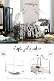 Campaign Bed Canopy Cheaper Alternative Less Expensive Acrylic ...