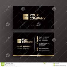 Visiting Card Design Black And Gold Business Card Black And Gold Vector Stock Vector