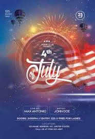 Download Free 4th Of July Flyer Psd Templates For Photoshop
