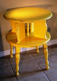 End Table Paint Ideas Cheery Yellow End Table Facelift Furniture