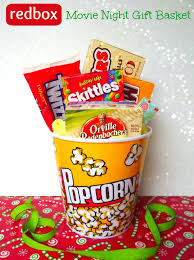 diy handmade night redbox gift basket teacher gift idea