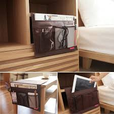 oxford cloth sofa bed side storage bag tv remote control holder organizer phone storage pouch home