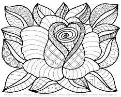 Coloring Pages Of A Flower Printable Coloring Book Printable