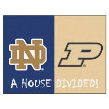 fanmats ncaa notre dame purdue house divided 3 ft x 4 ft area