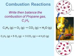 18 write then balance the combustion of propane gas c3h8
