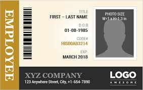 Employee Identification Card Templates Ms Word Word
