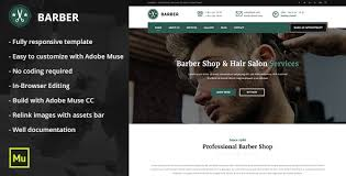 Barber Shop Website Barber Responsive Barber Shop And Hair Salon Template By Maximustheme