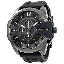 diesel watches men women new used luxury new diesel chief black dial black silicone men s chronograph watch dz4378