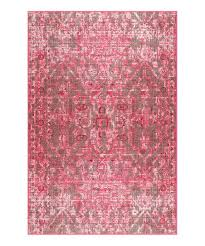 love this product pink distressed trish medallion rug