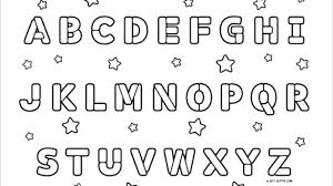 Alphabet Coloring Pages A Z Spanish Alphabet Coloring Pages Free
