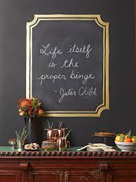 upgrade a plain wall with a framed chalkboard accent this fun project allows you to display daily es and dinner party s interchangeably