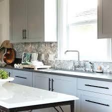 Gray Kitchen Backsplash Gray Kitchen Cabinets With Bronze Pulls Light Gray  Kitchen Backsplash Tile . Gray Kitchen Backsplash ...