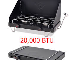 camping propane gas stove double 2 burner portable outdoor cooktop camp cooking basecampstove xyz