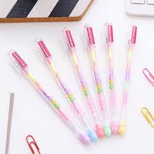 6pcs diy 6 in 1 rainbow highlighter al pastel pen mark stationery color l2v1