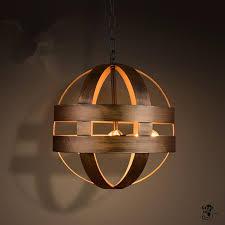 vintage atom cyclopean wine barrel pendant lights iron round nordic art pendant lamps bar restaurant light fixtures hanging lamp ceiling