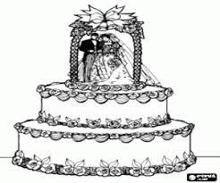 Kleurplaat Een Prachtige Bruiloftstaart Kleurplaten