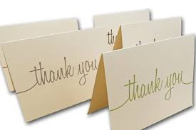 Thank You Note Size Ivory Script Thank You Note Cards For Sending Your Appreciation