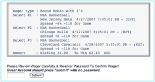 Round Robin Parlay Chart Wager Types Payoffs Vietbet