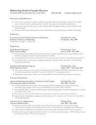 Cover Letter Sample Resume Student Sample Resume Student College
