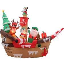 Home Accents Outdoor Christmas Decorations Home Accents Holiday 100 ft H Inflatable Giant Christmas Pirate 17