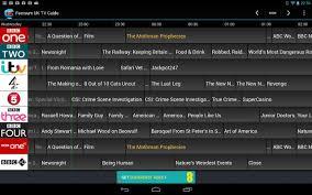 tv guide. feersum uk tv guide- screenshot tv guide