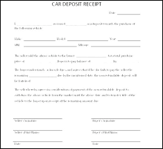 Proof Of Purchase Receipt Template Custom Car Deposit Receipt Template Free Templates Holding