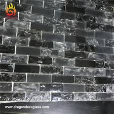 bliss iceland marble and glass linear mosaic tiles for kitchen backsplash or bathroom walls