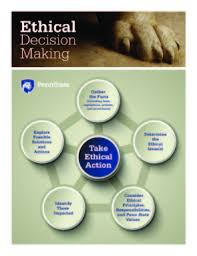 Ethical Decision Making Models Model For Ethical Decision Making Part Of The Penn State Values