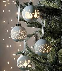 Personalised Light Up Christmas Baubles Light Up Christmas Tree Ornaments From Marks And Spencer
