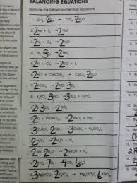 doent balancing equations worksheet answer key pg 61
