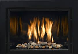 gas fireplace inserts rocks