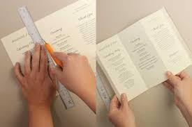 Wedding Program Scroll Accordian Fold Diy Wedding Program