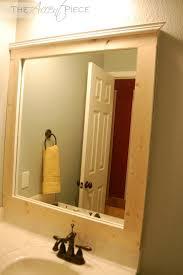 good iluminated bathroom mirror with unfinished wood frame