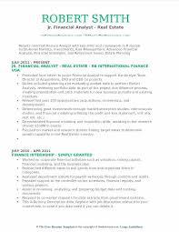 Real Estate Analyst Resume Sample Jr Financial Analyst Real Estate