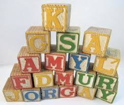 vintage wood alphabet blocks wooden extra large