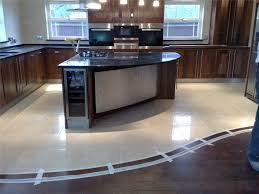 Porcelain Tiles For Kitchen Floors We Love The Transition Between The Polished Porcelain Tiles And