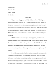 016 Mla Formatted Essay Example Format Research Paper What Is For An