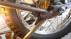 dirtbike bobber build frame welding youtube