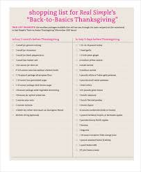 Thanksgiving Grocery List Template Grocery Shopping List Templates 9 Free Word Pdf Format