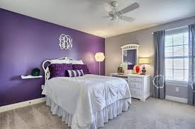 accent walls for bedrooms. Bedroom With Purple Accent Wall And Sand Color Walls Light Carpet For Bedrooms Y