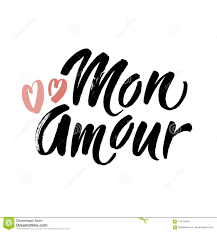 Lettrage Dintrigue Amoureuse De Lundi Illustration De Coeurs Mon