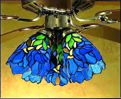 glass ceiling fans ceiling fan light shades stained s ceiling fans iris blue green stained s glass ceiling fans