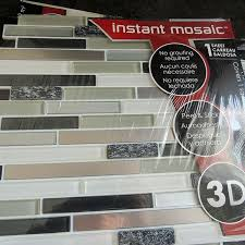 Installing A Glass Tile Backsplash Magnificent Makeover Ideas Before And Happy After Peel And Stick Glass Mosaic