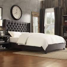 dark grey upholstered bed. Perfect Upholstered HomeSullivan Wentworth Charcoal Queen Upholstered Bed Intended Dark Grey