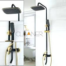 bath shower diverter spout tub spout with handheld shower black gold plated wall mounted bath shower bath shower diverter spout