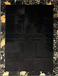 pieles pipsa black cow hide designer rug 5