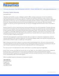 Example Of A Preschool Teacher Cover Letter Tomyumtumweb Com