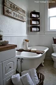 Complement the farmhouse style with the white metal sinks. Old Farmhouse Farmhouse Bathroom Wall Decor Decoomo